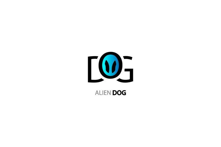 Vector logo. alien dog example image 1