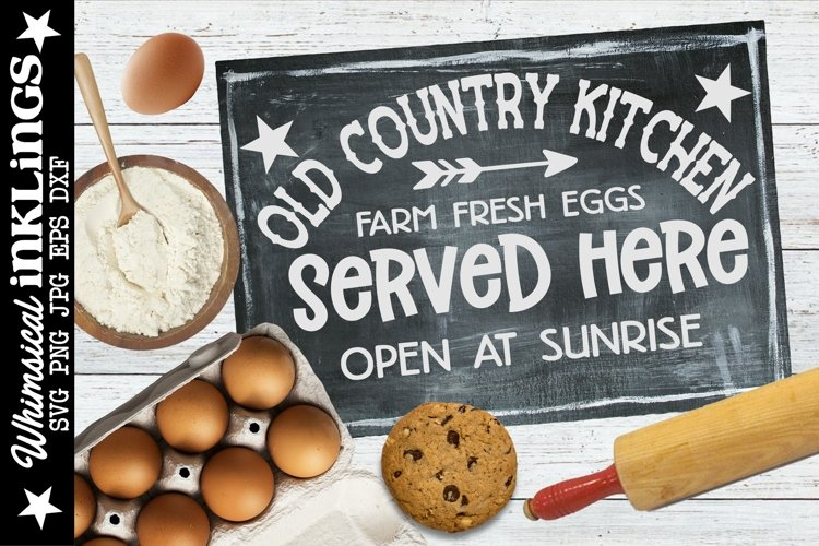 Old Country Kitchen SVG example image 1