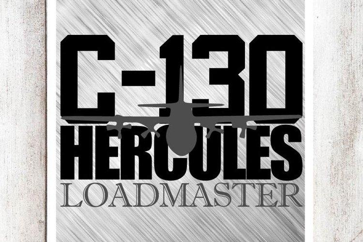 C-130 Loadmaster SVG/DXF/EPS File example image 1