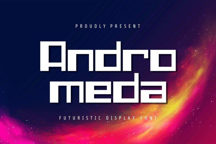 Web Font Andromeda - Display Font example image 1