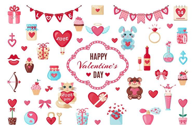 Set of Valentine's Day elements example image 1