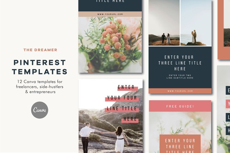 Pinterest Templates | Canva | The Dreamer example image 1