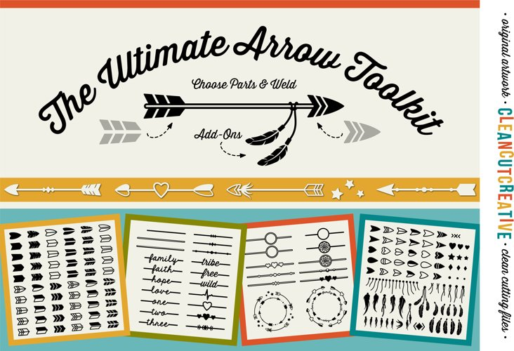 The Ultimate ARROW TOOLKIT - DIYArrows SVG DXF EPS PNG file example image 1