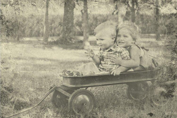 Vintage Old Photo Effect Overlays - Free Design of The Week Design8