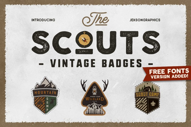 Scout SVG Logo Travel Sticker Retro Camp Travel DXF PNG example image 1