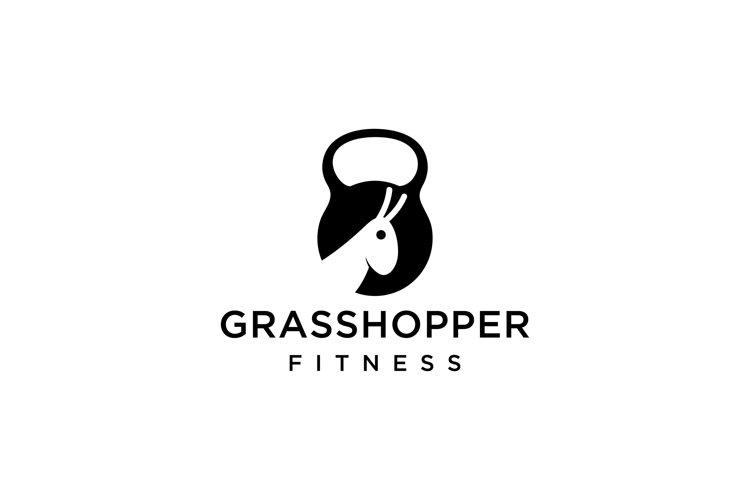 Grasshopper fitness logo example image 1