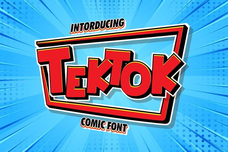 Tektok Comic Font
