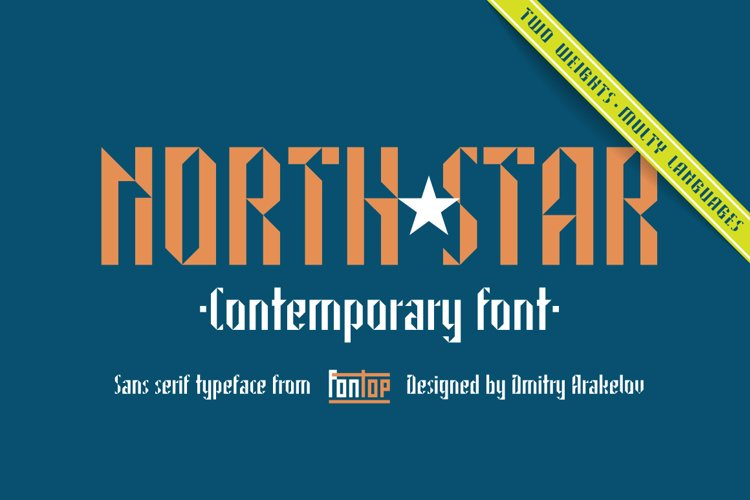 NORTH STAR typeface example image 1
