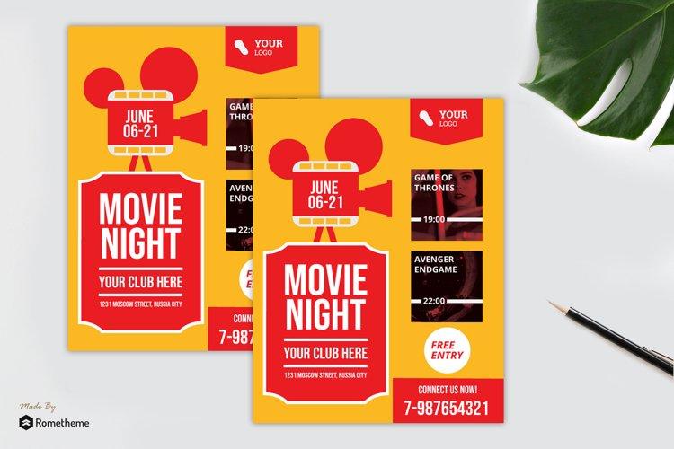 Movie Night Flyer vol. 01 example image 1