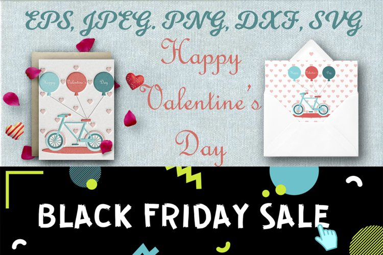 Valentines Day set. Greeting card. Beautiful patterns gift. example image 1