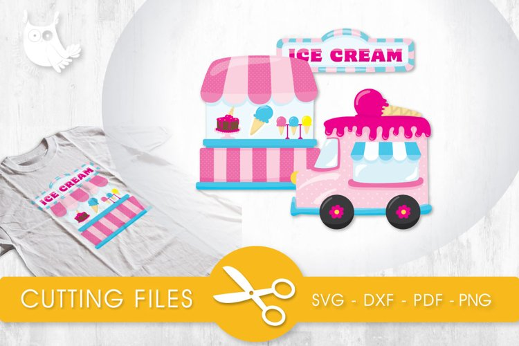 Ice Cream Stand cutting files svg, dxf, pdf, eps included - cut files for cricut and silhouette - Cutting Files SVG example image 1