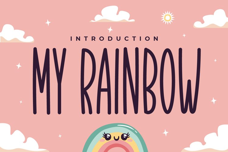 My Rainbow - Cute Display Font example image 1