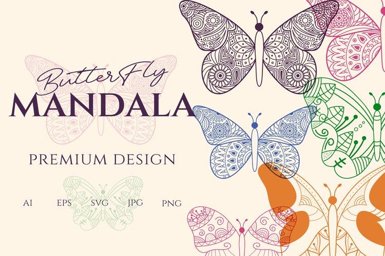 Mandala Butterfly SVG Beautiful