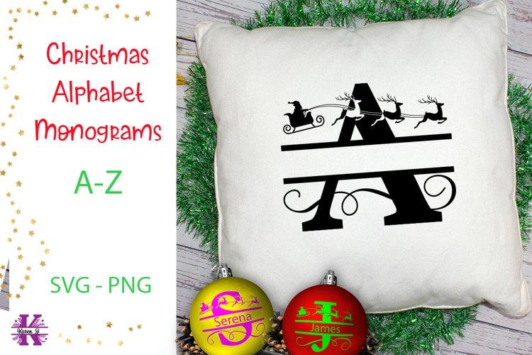 Christmas Alphabet Monogram SVGs