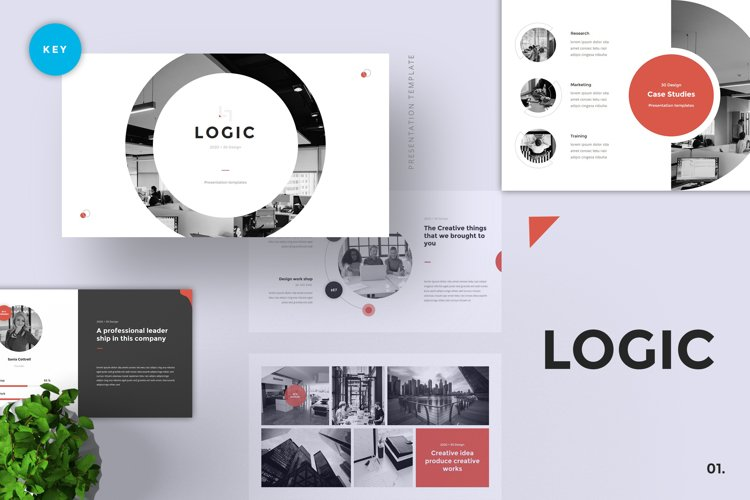 Logic - Pitch Deck Keynote Template example image 1