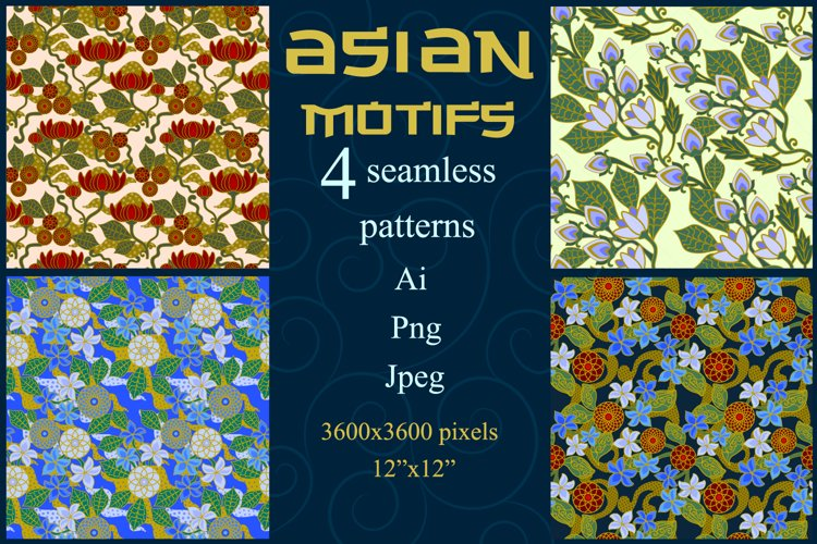 Asian motifs