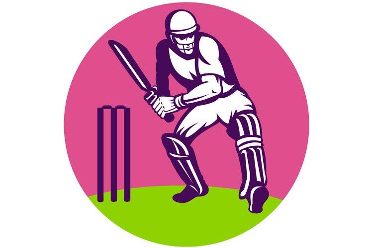 cricket batsman batting wicket example image 1