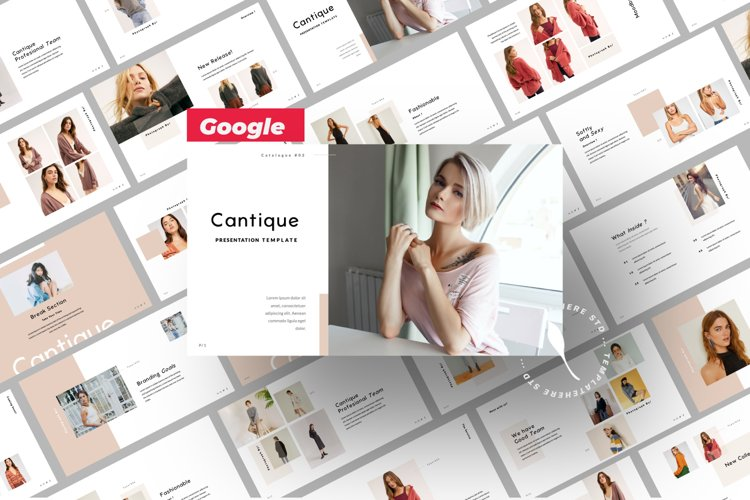 Cantique Brand Google Slide example image 1