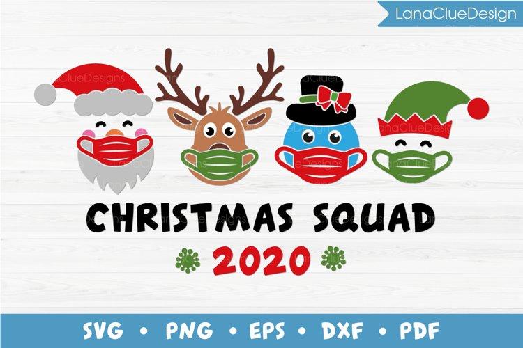 Christmas Squad 2020 SVG, Santa Squad, Quarantine Christmas example image 1