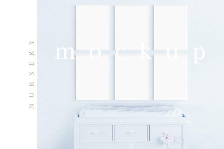 Boy's Room Blue Nursery A4 White Frames Digital Mockup/M200 example image 1