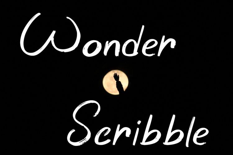 Wonder Scribble - Handwritten Font example image 1