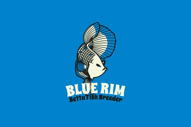Blue Rim Logo Template example image 1
