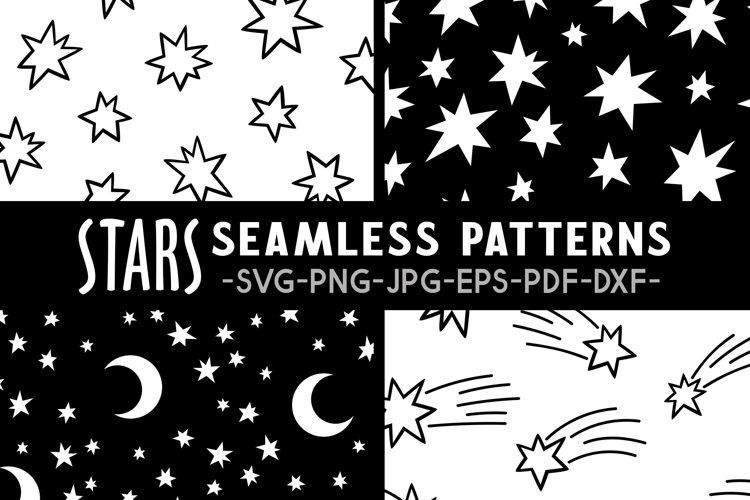 Stars seamless pattern svg Stars pattern Stars svg Night svg