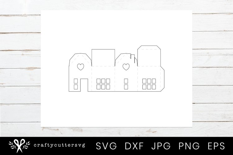Christmas Village Svg Bundle  DIY Christmas 3D House - Free Design of The Week Design5