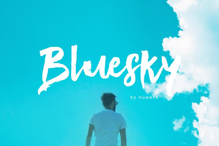 Bluesky Brush Font example image 1