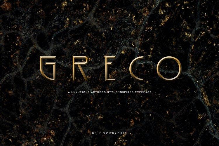 Greco - An Artdeco inspired sans