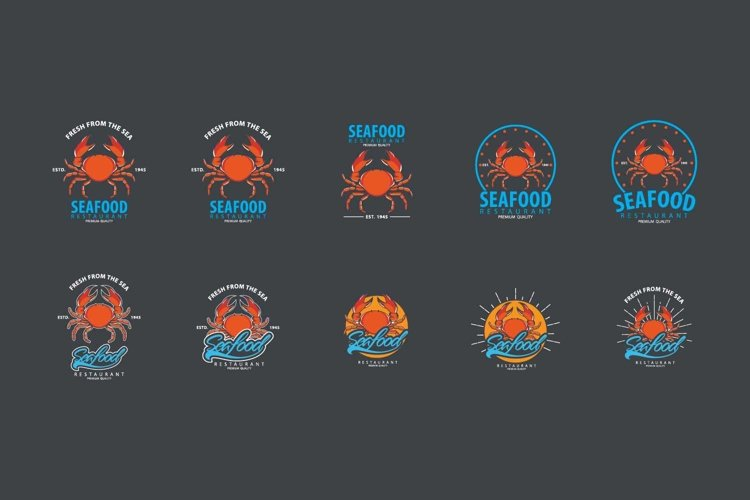 Seafood logo template example image 1