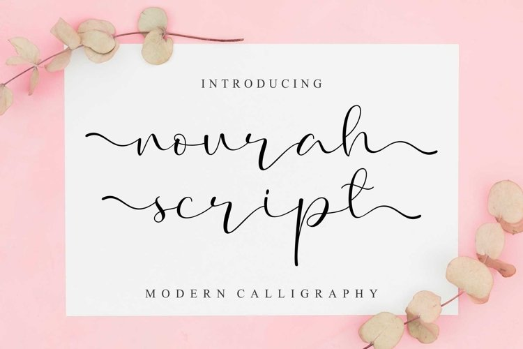 Nourah Script | Cute Handwritten Font example image 1