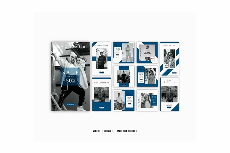 Social media post template color blue example image 1