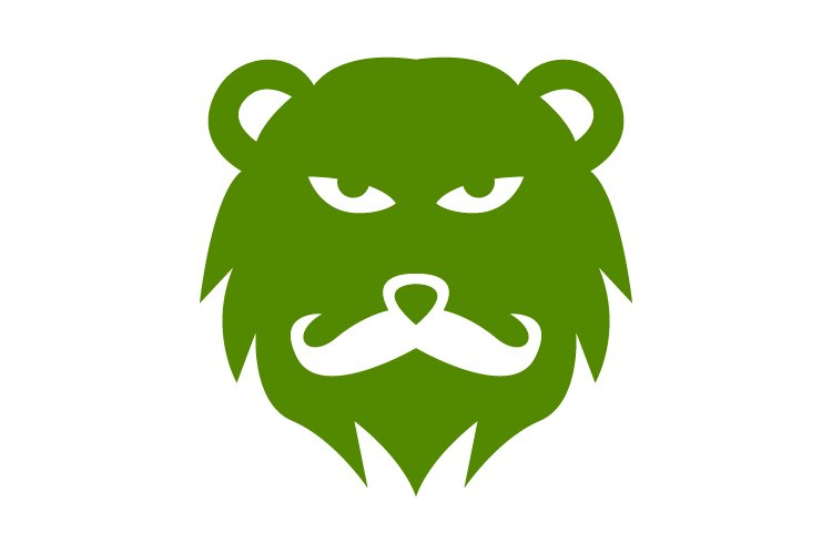 Bear man logo template - Eps 10 example image 1