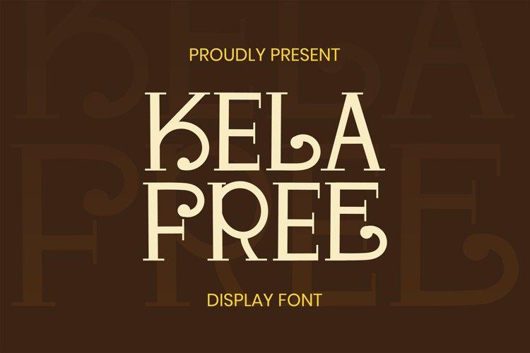 Kela Free Font example image 1