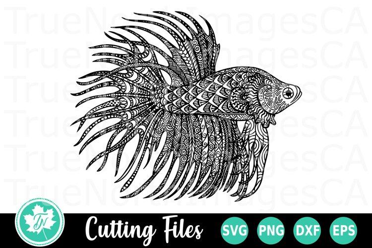 Zentangle SVG | Mandala SVG | Beta Fish SVG