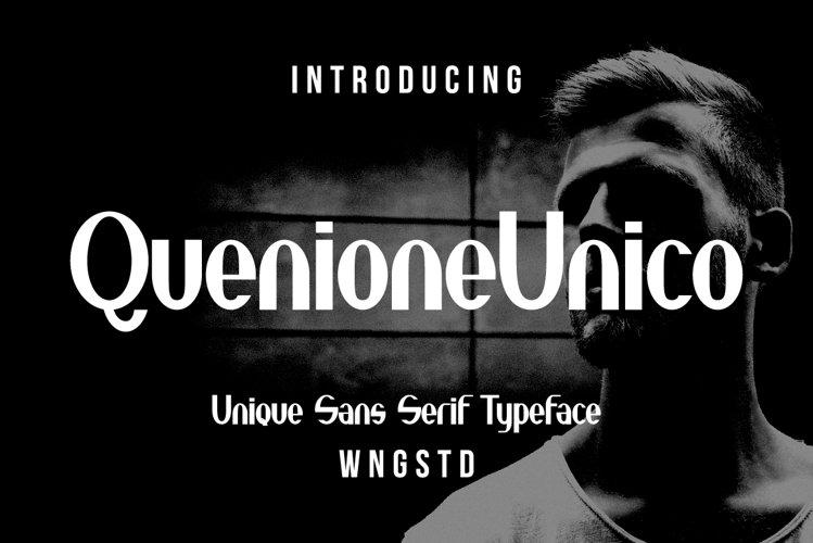 Quenione Unico - Unique sans serif example image 1