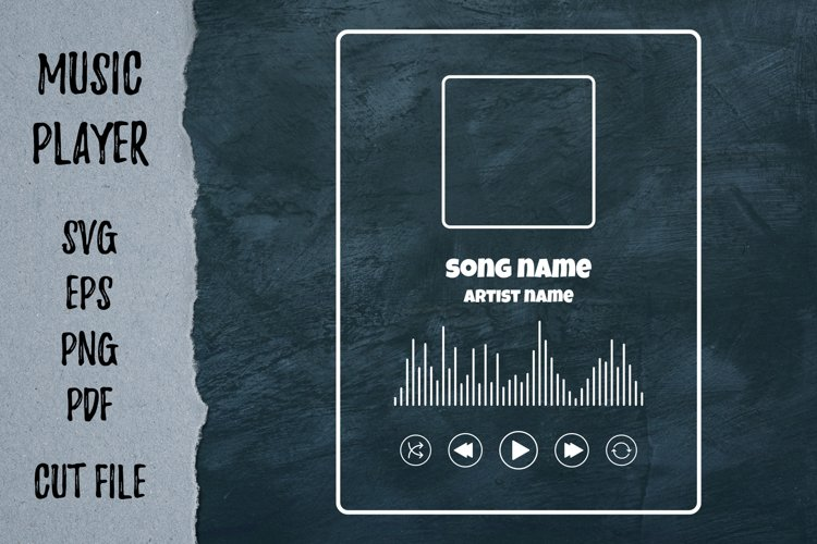 Player song cover Silhouettes template Playlist svg files