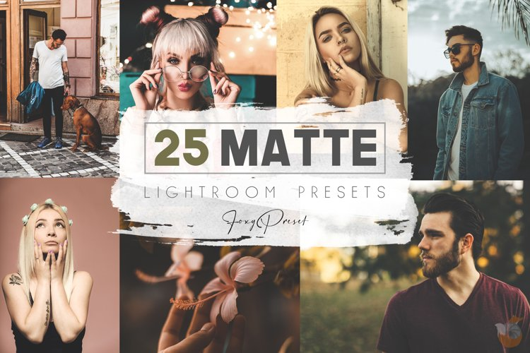 25 Matte Mobile & Desktop Lightroom Presets example image 1