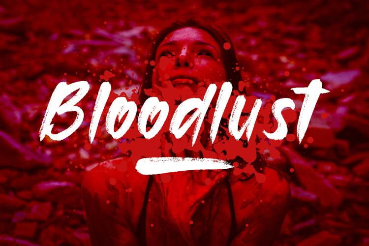 Bloodlust Brush Font example image 1