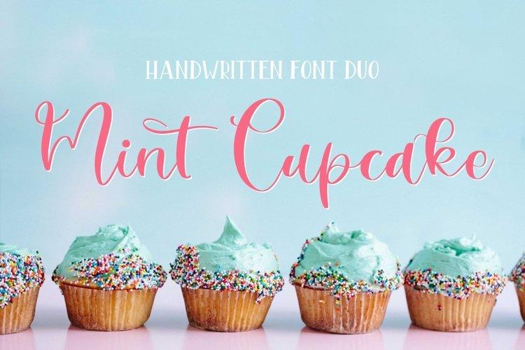 Web Font Mint Cupcake Font Duo