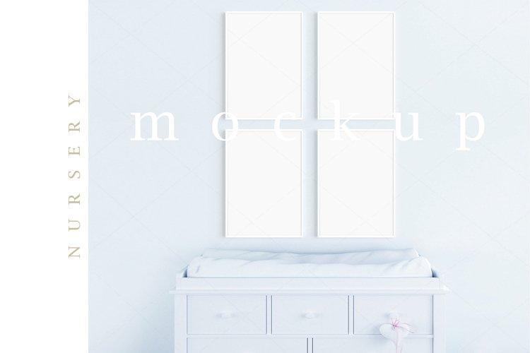 Boy's Room Blue Nursery A4 White Frames Digital Mockup/M199 example image 1