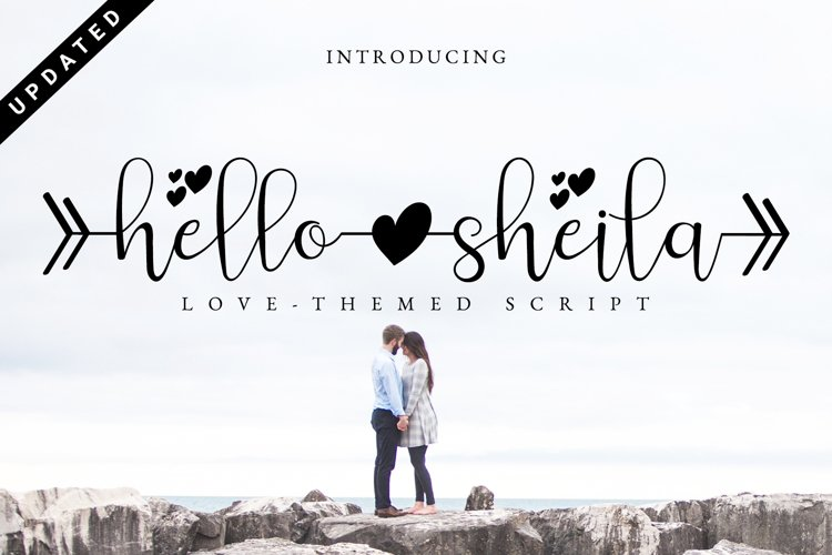 Hello Sheila - Heart Connection Font Script example image 1
