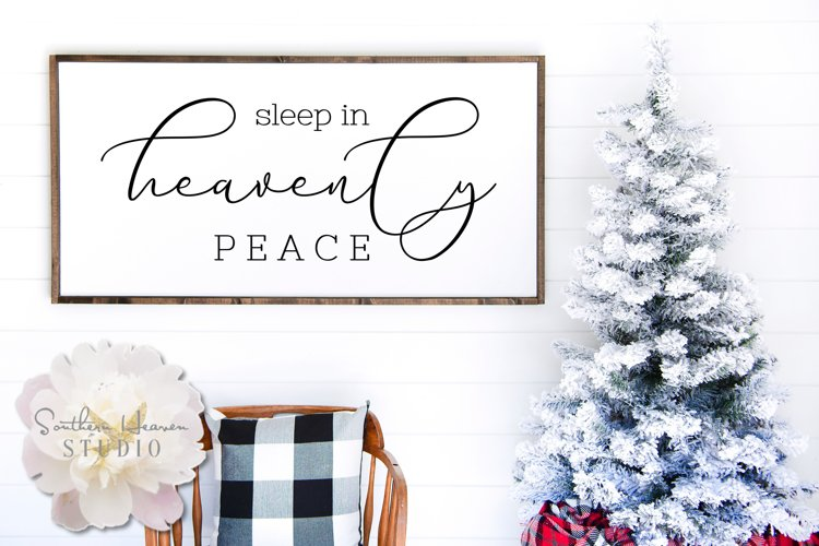 SLEEP IN HEAVENLY PEACE - SVG, PNG, DXF and EPS