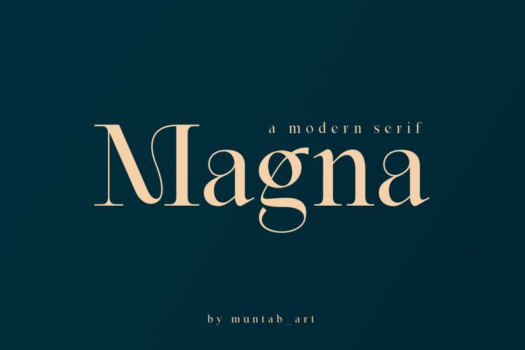 Magna | Modern Serif font example image 1