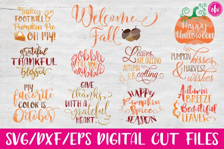 Fall Bundle - SVG, DXF, EPS Cut Files example image 1