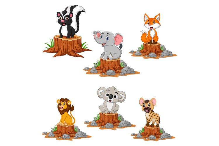 Cute Wild Animals Cartoon Bundle example image 1