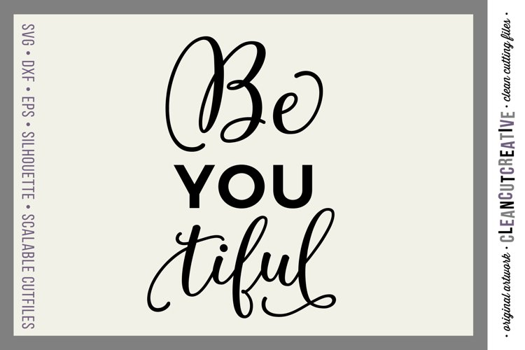BeYOUtiful - SVG DXF EPS PNG - Free Design of The Week Font