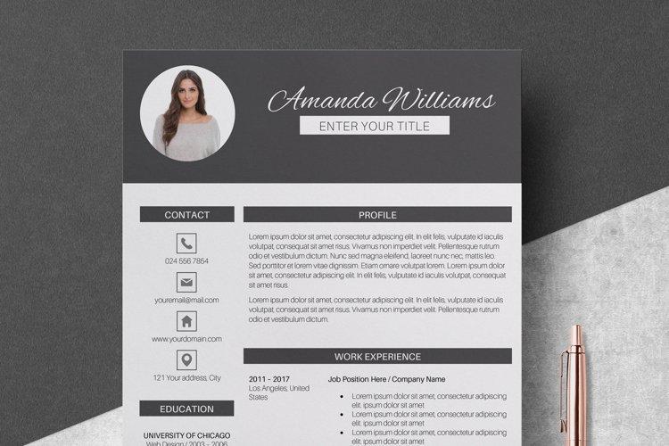 Resume Template | CV Cover Letter - Amanda Williams