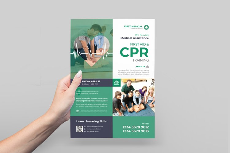 CPR Training Flyer Design example image 1